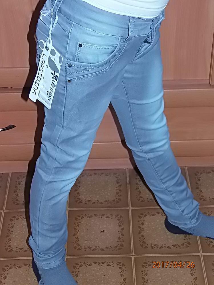Летние джинсы на девочку р.122-158 фото №1