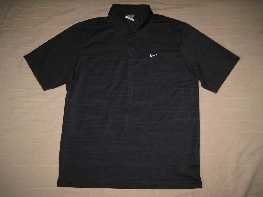Nike Golf Dri-Fit (L) спортивная тенниска поло мужская фото №1