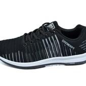 Мужские кроссовки Baas Adrenaline 632 черные (реплика)