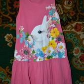 3d платье сарафан H&M 6-8 лет в идеале хлопок