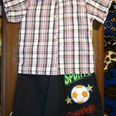 Летний костюмчик для мальчика (рубашка + шорты) на 2 года Турция