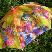 Италия. Спица карбон Безопасный зонт зонтик трость для девочки Winx феи Винкс