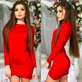 Шикарное платье замш 2 цвета
