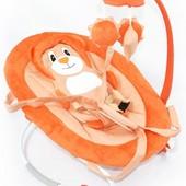Шезлонг качалка оранжевый