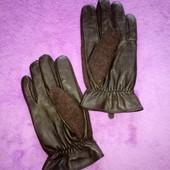 размер L (8,5) кожаные мужские перчатки