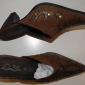 Женские сабо на устойчивом каблуке 37,5- 38 размера. Снижение цены!!