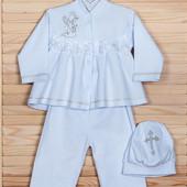 Крестильная рубашка наряд на крестины для крестин р. 68 74