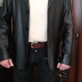 Пиджак кожаный мужской 50 р