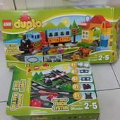Lego Duplo самый большой набор! Оригинал! Железнодорожная станция с дополнительным набором рельсов!