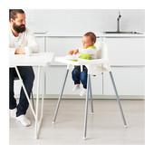 Детский стул для кормления Antilop, белый, Икеа (Ikea)