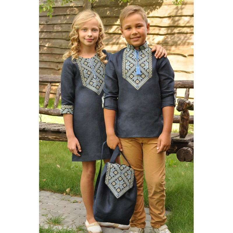 Вишиванка для хлопчика та сукня для дівчинки фото №1