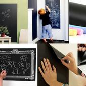 Самоклеющаяся пленка для рисования мелом на стене 45 х 200см + мелки 001