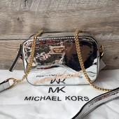 Женская зеркальная сумка Michael Kors Майкл Корс серебро бронза золото