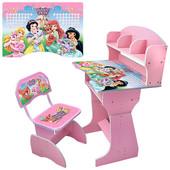 Парта детская (от 3-12 лет) HB-2070M02-07 Принцессы,розовая