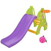 Горка для деток (159*67*76,5) Бэмби-Жираж,с баскетбольным кольцом,зеленая