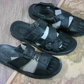 Мужские сандалии и шлепки кожа , распродажа остатков всего 5 пар