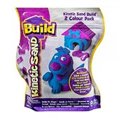 kinetic sand Кинетический песок голубой и фиолетовый build 2 color pack Purple/Blue