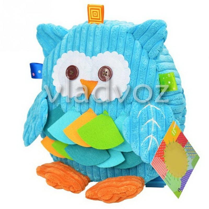 Детский рюкзак для девочки сова игрушка голубой фото №1