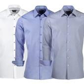 Рубашка стильная мужская XXL голубая Nobel league