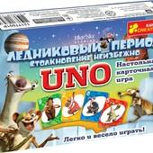 Карточная настольная игра Уно uno ледниковый период 12177001Р Ранок креатив