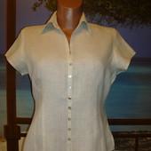 Рубашка льняная\лен с коротким рукавом р.10-12 Kaliko