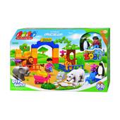 Конструктор (аналог лего дупло, lego duplo) Зоопарк JDLT 5090