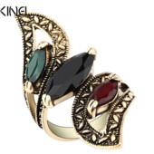 Позолоченное кольцо с кристаллами