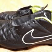 Кожаные бутсы Nike Tiempo оригинал р.38-23.5см.