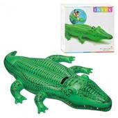 Надувной плотик 58546 крокодил, 168-86см