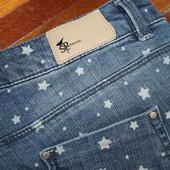 джинсовые шорты в звезды denim springfield разм 14 сост отличное