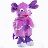 Детский плюшевый рюкзачок игрушка Лунтик