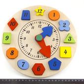 Деревянные часы - сортер, Розумний Лис