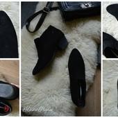 Шикарные замшевые ботинки-ковбойки, р-р 39,5