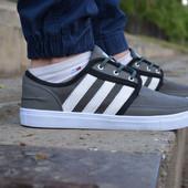 Мужские кеды спортивные туфли серые adidas gazelle grey адидас газель серые
