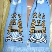Спортивний оригинал фирменний чемпионский шарф футбол ф.к Манчестер Сити .