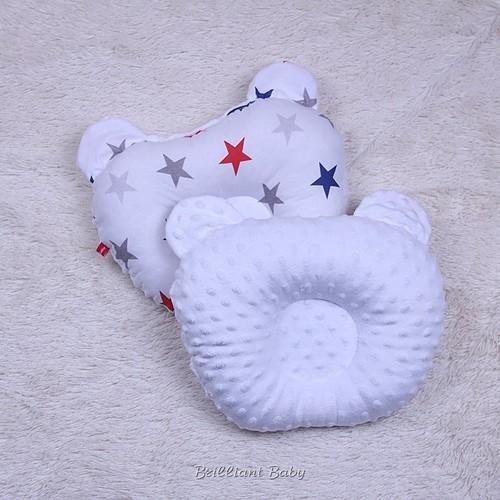 Двухсторонняя эрго подушка детская ортопедическая минки + хлопок фото №1