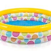 Красочный надувной детский бассейн Intex 58439