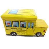 Дитячий пуф Автобус 55*26*31 жовтий УкрОселя