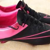 Кожаные бутсы фирменные Nike Mercurial acc conditions control р.44-27.5см