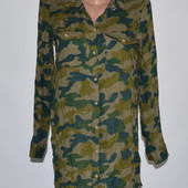 Длинная женская рубашка в стиле милитари Divided 8р