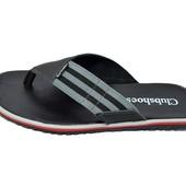 Шлепанцы мужские Clubshoes черные (реплика)