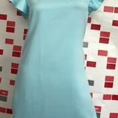 Нежное голубое платье с рукавами-воланами