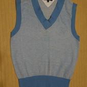 Мягкая вязаная безрукавка голубого цвета Tommy Hilfiger сша 38 M.