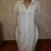 Warehouse платье летнее на пуговицах с гепюровой отделкой стильное модное р14