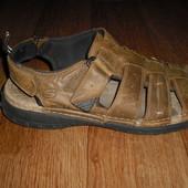Мужские кожаные сандалии Skechers размер 45
