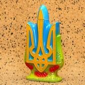 """Сувенирная керамическая бутылка для водки """"Трезубец"""""""