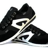 Мужские легкие кроссовки черные (Ч-15)