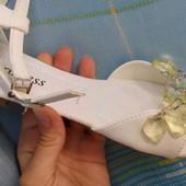 Princess 36 24 см 38-25см белые босоножки  ,  женские летние Читать описание!