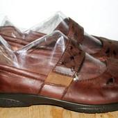 кожаные туфли 25.5 см