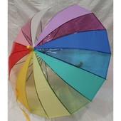 Очень крепкий зонт-трость 16 карбоновых спиц!